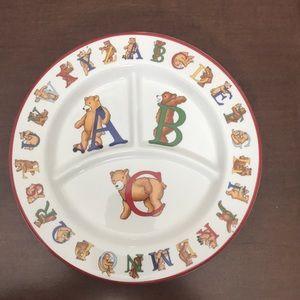 1994 Tiffany & Co ABC/Alphabet Bears plate
